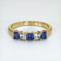 18K Yellow Gold Gemstone Band - JB391Y18