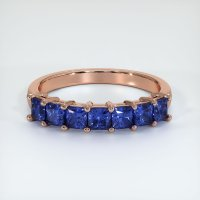 14K Rose Gold Gemstone Band - JB392R14