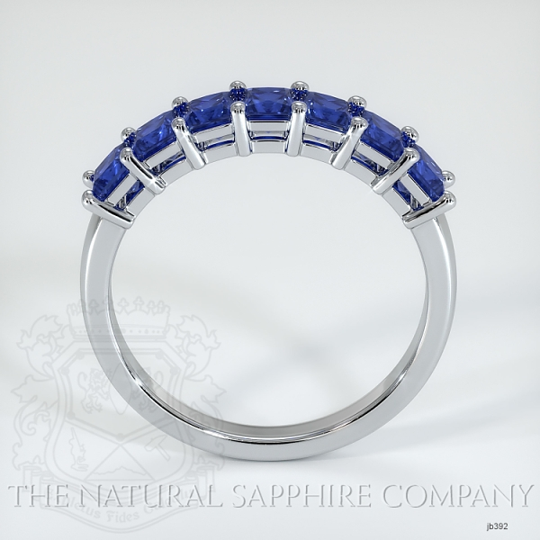 7 Stone Princess Cut Blue Sapphire Wedding Band JB392 Image 3