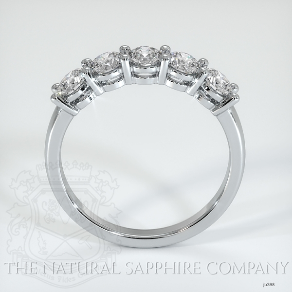5 Stone Prong Set Diamond Wedding Band JB398 Image 3