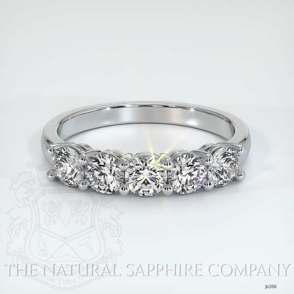 5 Stone Prong Set Diamond Wedding Band JB398 Image