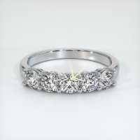 14K White Gold Gemstone Band - JB398W14