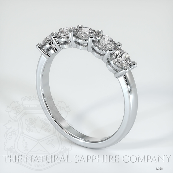 5 Stone Prong Set Diamond Wedding Band JB398 Image 2
