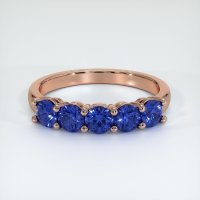 14K Rose Gold Gemstone Band - JB399R14