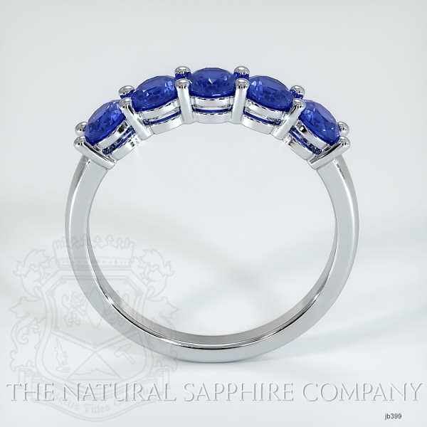 5 Stone Prong Set Blue Sapphire Wedding Band JB399 Image 3