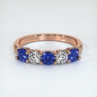 14K Rose Gold Gemstone Band - JB400R14