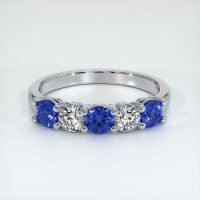 18K White Gold Gemstone Band - JB403W18