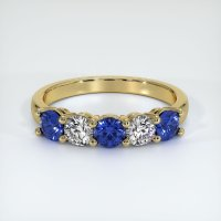 14K Yellow Gold Gemstone Band - JB403Y14