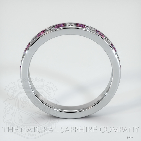 Channel Set Pink Sapphire And Diamond Eternity Wedding Band JB418 Image 3