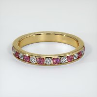 14K Yellow Gold Gemstone Band - JB418Y14