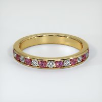 18K Yellow Gold Gemstone Band - JB418Y18