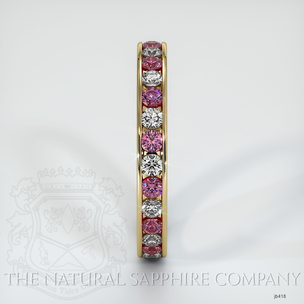 Channel Set Pink Sapphire And Diamond Eternity Wedding Band JB418 Image 4