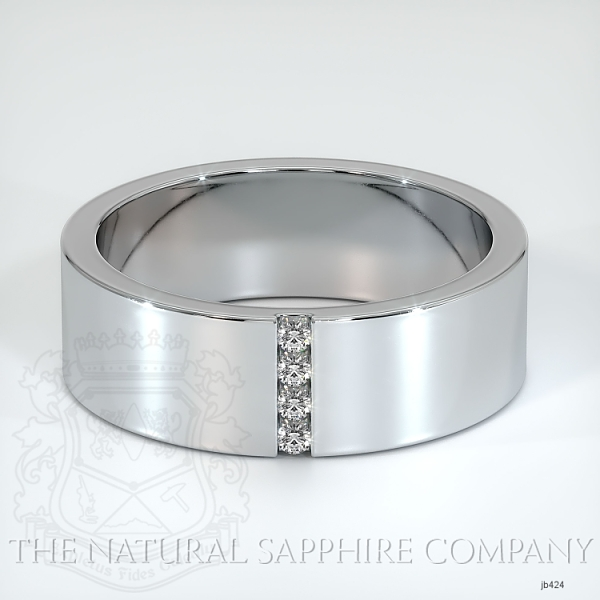 Bezel Set Diamond Wedding Band JB424 Image