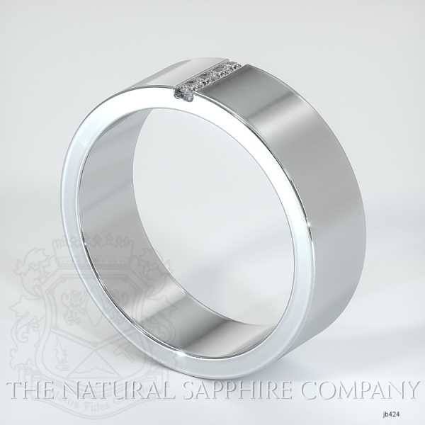 Bezel Set Diamond Wedding Band JB424 Image 2