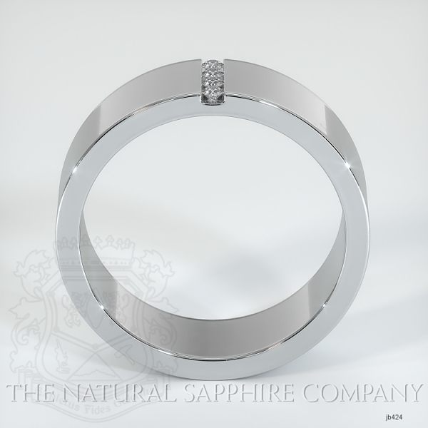 Bezel Set Diamond Wedding Band JB424 Image 3