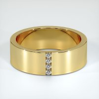 18K Yellow Gold Gemstone Band - JB424Y18