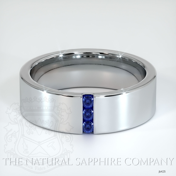 Bezel Set Blue Sapphire Wedding Band JB425 Image