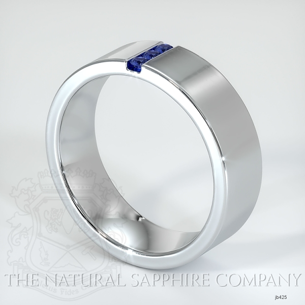 Bezel Set Blue Sapphire Wedding Band JB425 Image 2
