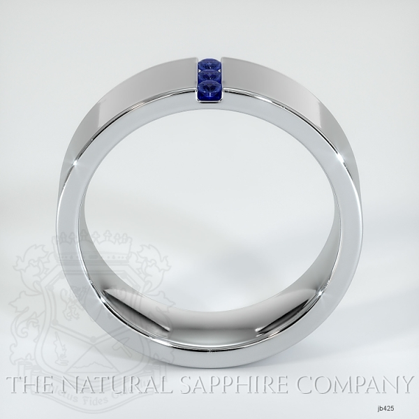 Bezel Set Blue Sapphire Wedding Band JB425 Image 3