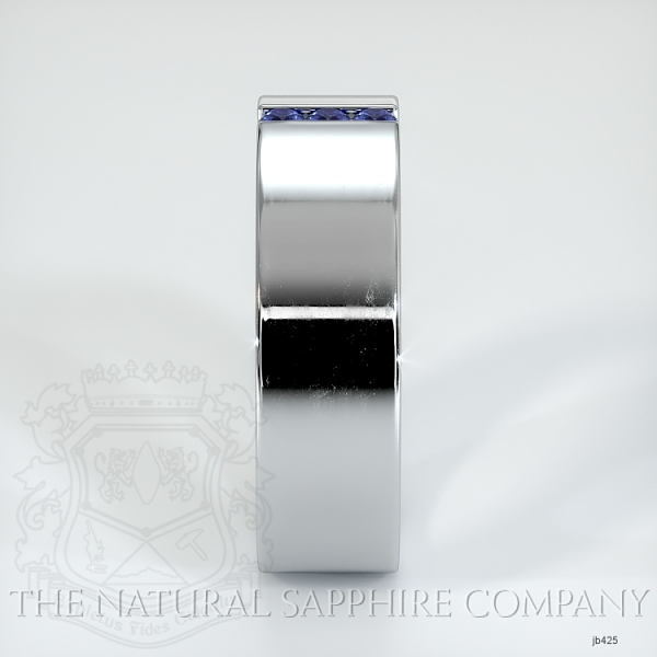 Bezel Set Blue Sapphire Wedding Band JB425 Image 4