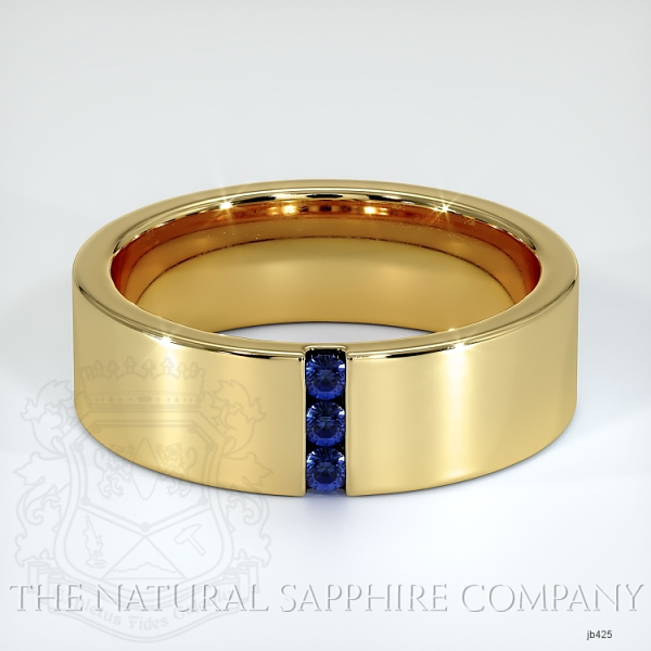 Channel Set Blue Sapphire Wedding Band JB425 Image