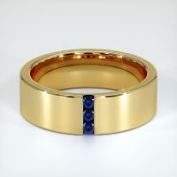 18K Yellow Gold Gemstone Band - JB425Y18