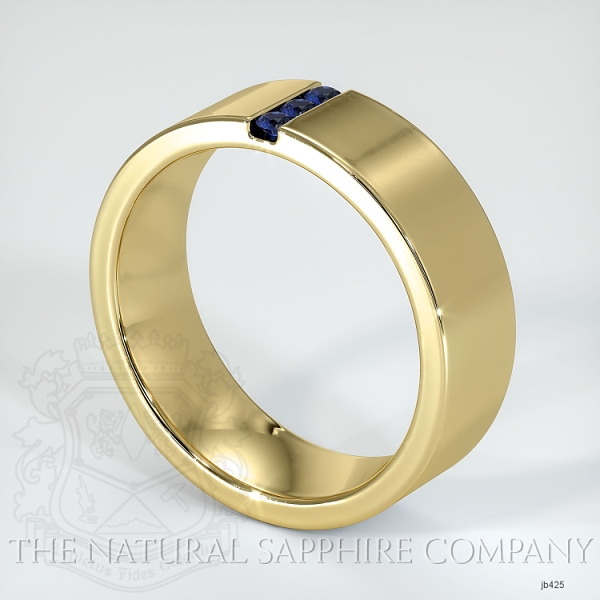 Channel Set Blue Sapphire Wedding Band JB425 Image 2