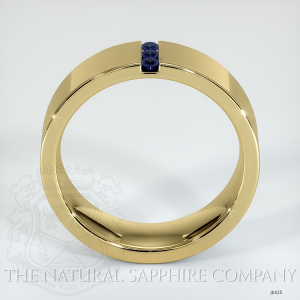 Channel Set Blue Sapphire Wedding Band JB425 Image 3