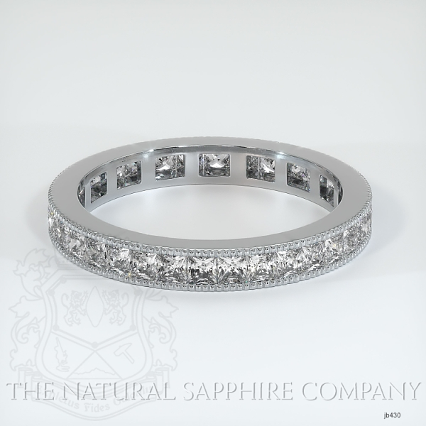 Princess Cut Channel Set White Diamond Eternity Wedding Band JB430 Image