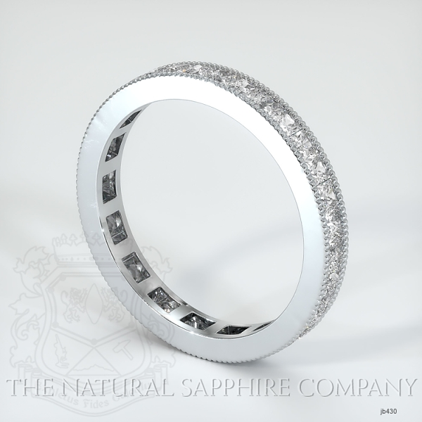 Princess Cut Channel Set White Diamond Eternity Wedding Band JB430 Image 2