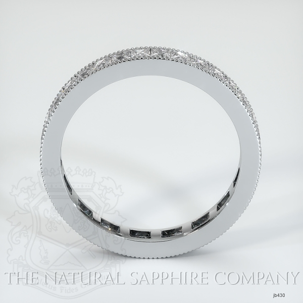 Princess Cut Channel Set White Diamond Eternity Wedding Band JB430 Image 3