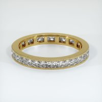 18K Yellow Gold Gemstone Band - JB430Y18