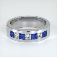 14K White Gold Gemstone Band - JB444W14
