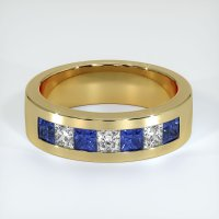 14K Yellow Gold Gemstone Band - JB444Y14