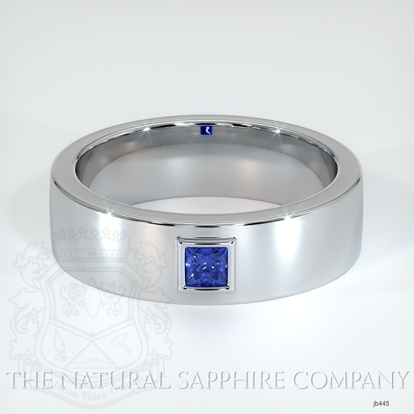 Bezel Set Diamond/ Sapphire Wedding Band JB445 Image