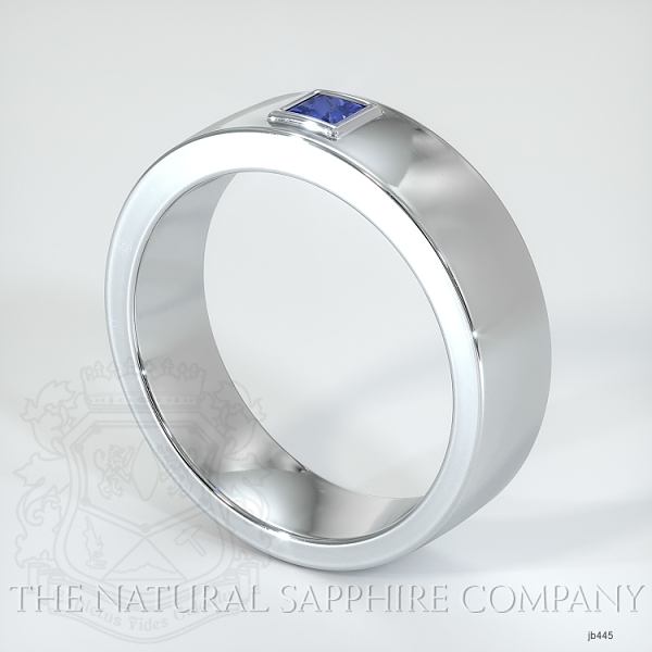 Bezel Set Diamond/ Sapphire Wedding Band JB445 Image 2
