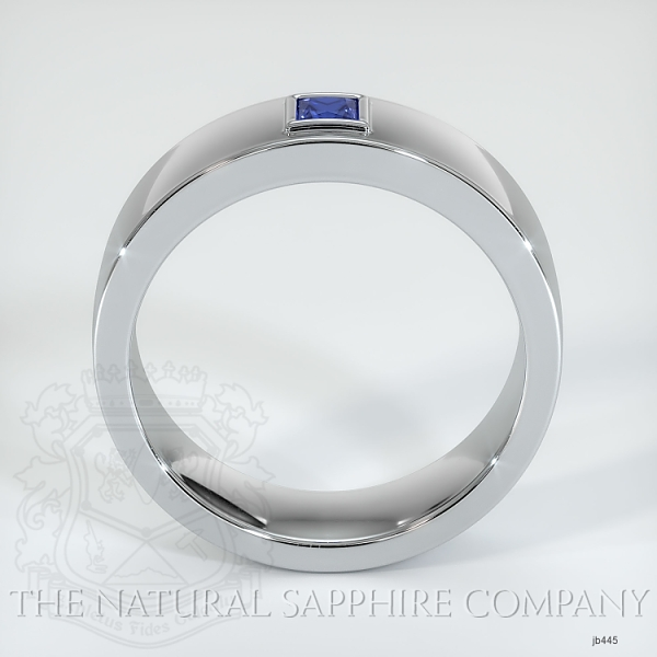 Bezel Set Diamond/ Sapphire Wedding Band JB445 Image 3