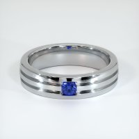 14K White Gold Gemstone Band - JB448W14