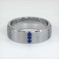 14K White Gold Gemstone Band - JB449W14