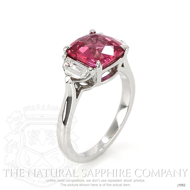 3.88ct Pink Sapphire Ring Image 2