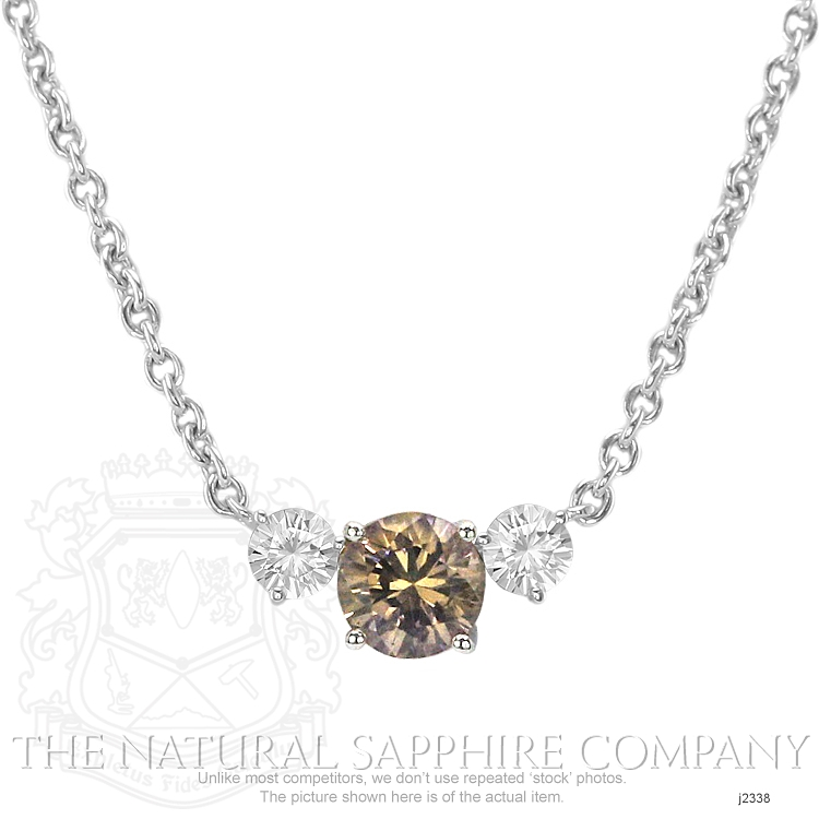 0.96ct Orange Sapphire Necklace Image