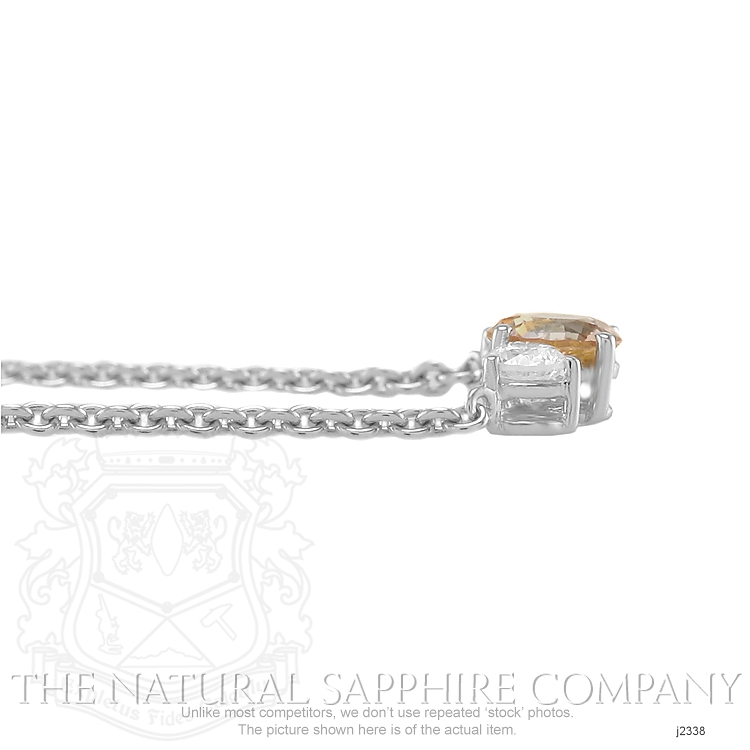 0.96ct Orange Sapphire Necklace Image 4