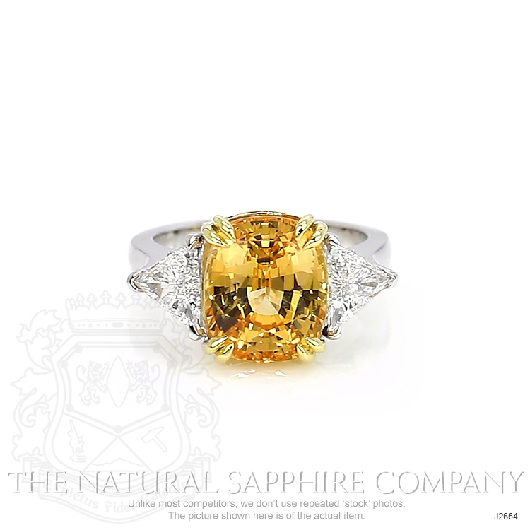 7.18ct Orangish Yellow Sapphire Ring Image