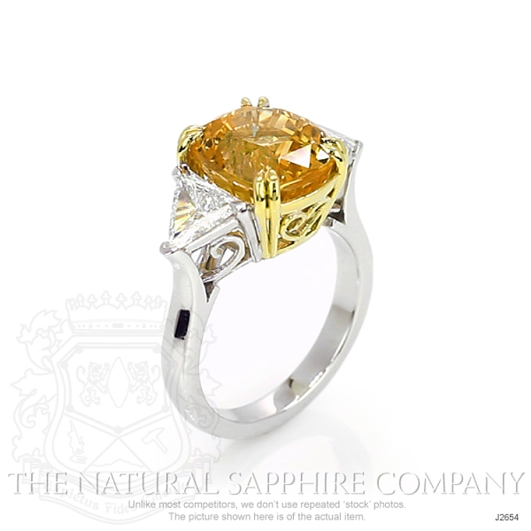 7.18ct Orangish Yellow Sapphire Ring Image 2