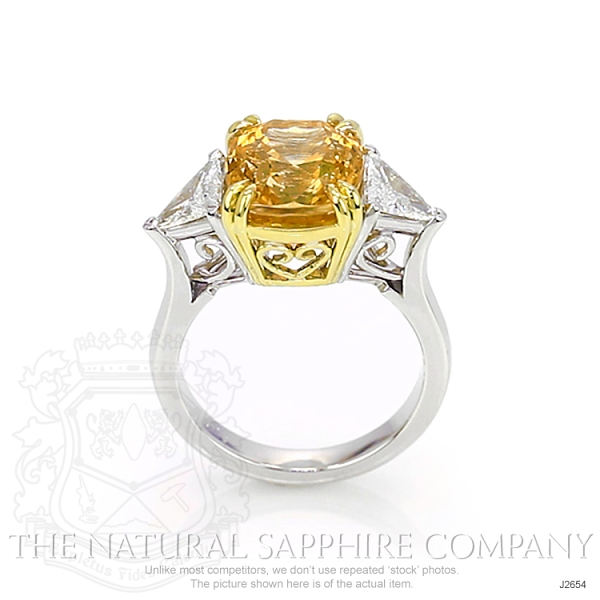 7.18ct Orangish Yellow Sapphire Ring Image 4
