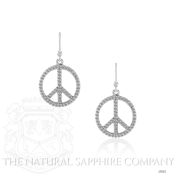 1.40ct White Sapphire Earring Image