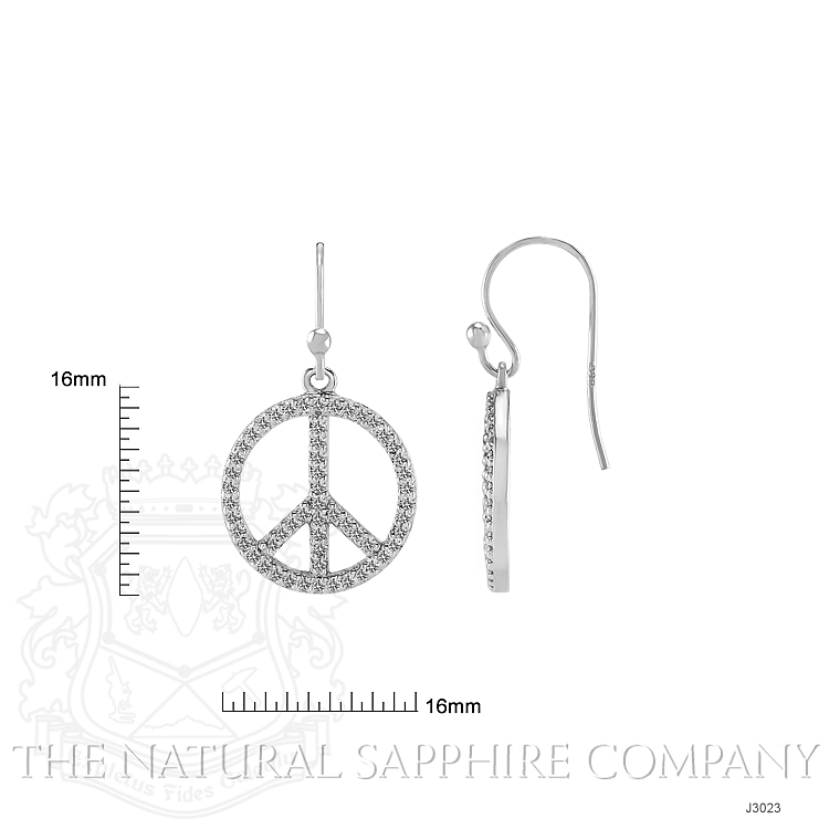 1.40ct White Sapphire Earring Image 2
