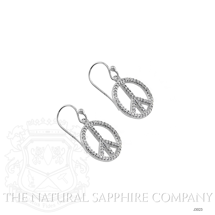 1.40ct White Sapphire Earring Image 3