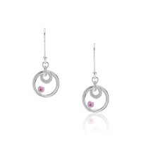 0.10ct Pink Sapphire Earring - J3076
