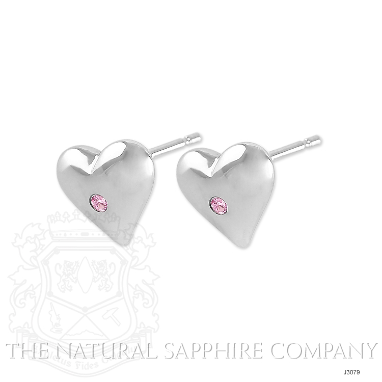 0.04ct Pink Sapphire Earring Image 3